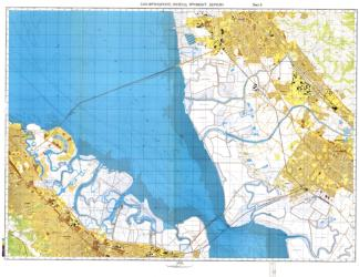 San Francisco, California, Cold War Map, Sheet 6 of 8 by USSR Ministry of Defense