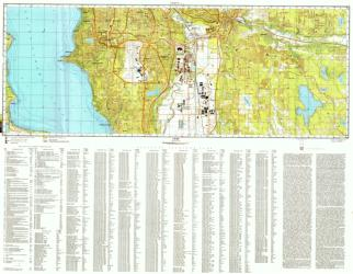 Seattle, Washington, Cold War Map, Sheet 3 of 3 by USSR Ministry of Defense