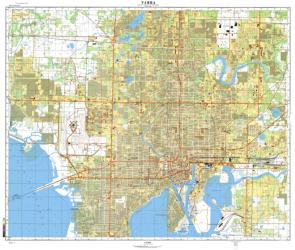 Tampa, Florida, Cold War Map, Sheet 1 of 2 by USSR Ministry of Defense