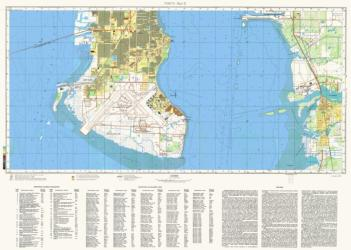 Tampa, Florida, Cold War Map, Sheet 2 of 2 by USSR Ministry of Defense