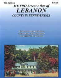 Lebanon County, Pennsylvania Atlas by Franklin Maps
