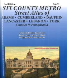 Six County Pennsylvania Street Atlas: Adams, Cumberland, Dauphin, Lancaster, Lebanon, York Counties by Franklin Maps