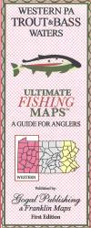 Western PA Trout and Bass Map by Franklin Maps