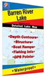Barren River Lake (KY) Fishing Map by Fishing Hot Spots