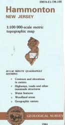 Hammonton New Jersey Topographic Map by United States Geological Survey (USGS)