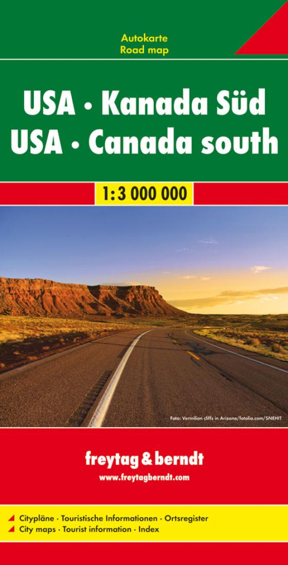 United States And Southern Canada Road Map By - Road map of southern usa