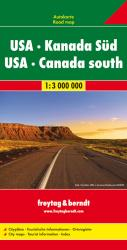 United States and Southern Canada, Road Map, 1:3,000,000 by Freytag-Berndt und Artaria
