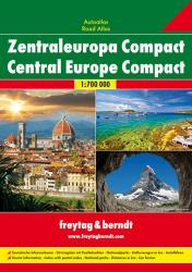 Central Europe, Compact Road Atlas, softcover by Freytag, Berndt und Artaria