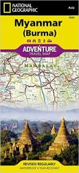 Myanmar (Burma) Adventure Map 3025 by National Geographic Maps
