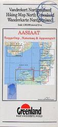 Hiking Map Northern Greenland : Aasiaat, Saqqarliup, Naternaq & Appannguit by Greenland Tourism