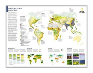 Human Influences : Into a New Epoch? - Map from National Geographic Atlas of the World 10th Edition by National Geographic Maps