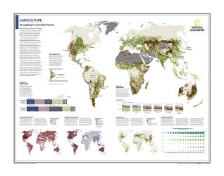 Agriculture : Struggling to Feed the Planet - Map from National Geographic Atlas of the World 10th Edition by National Geographic Maps