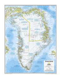 Greenland - Map from National Geographic Atlas of the World 10th Edition by National Geographic Maps