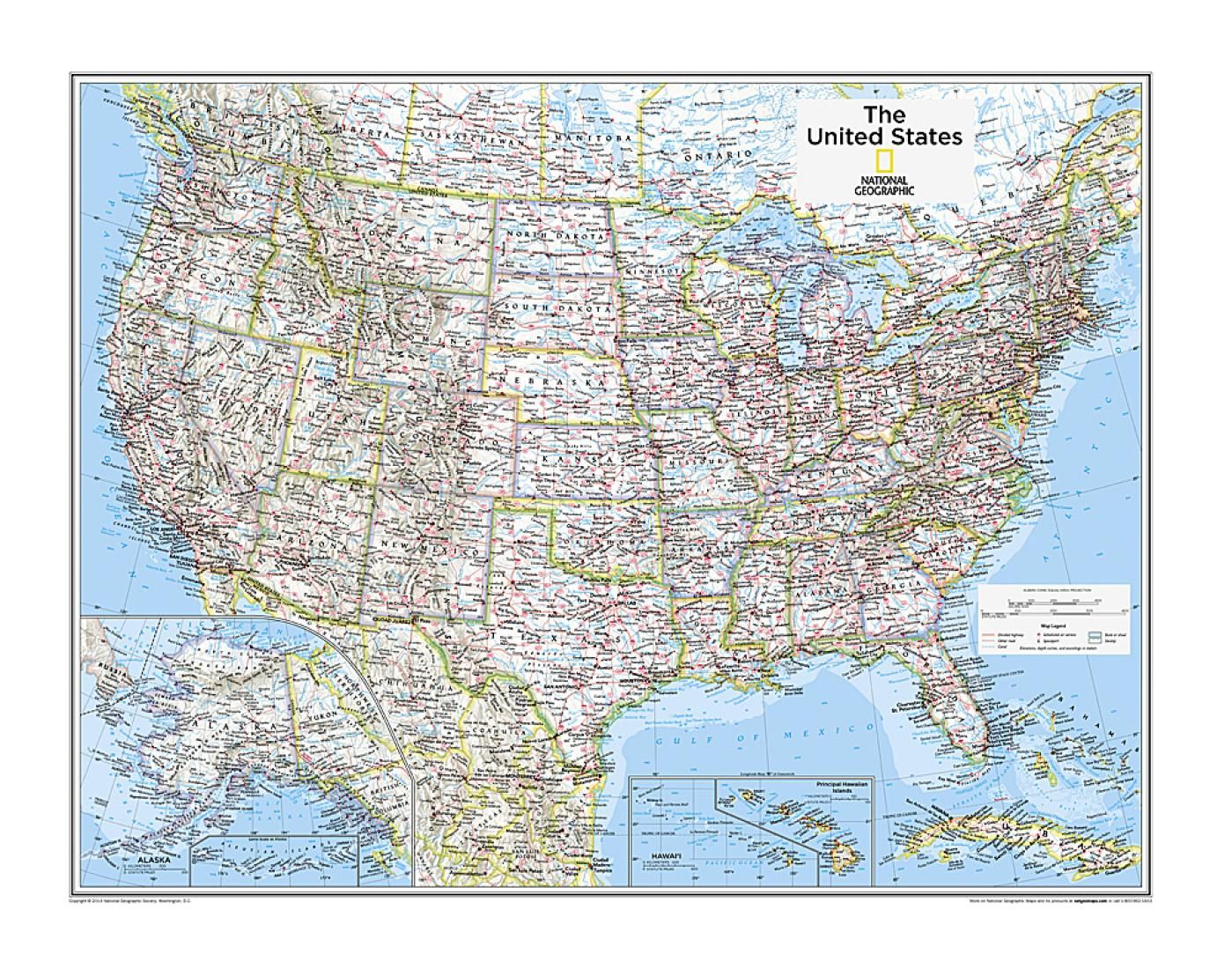 Picture of: United States Political Map From National Geographic Atlas Of The World 10th Edition By National Geographic Maps