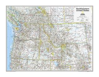 Northwestern U.S. - Map from National Geographic Atlas of the World 10th Edition by National Geographic Maps