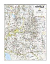 Four Corners U.S. - Map from National Geographic Atlas of the World 10th Edition by National Geographic Maps