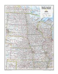 North Central U.S. - Map from National Geographic Atlas of the World 10th Edition by National Geographic Maps