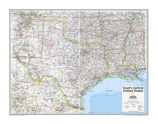 South Central U.S. - Map from National Geographic Atlas of the World 10th Edition by National Geographic Maps