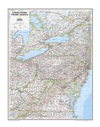 Middle Atlantic U.S. - Map from National Geographic Atlas of the World 10th Edition by National Geographic Maps