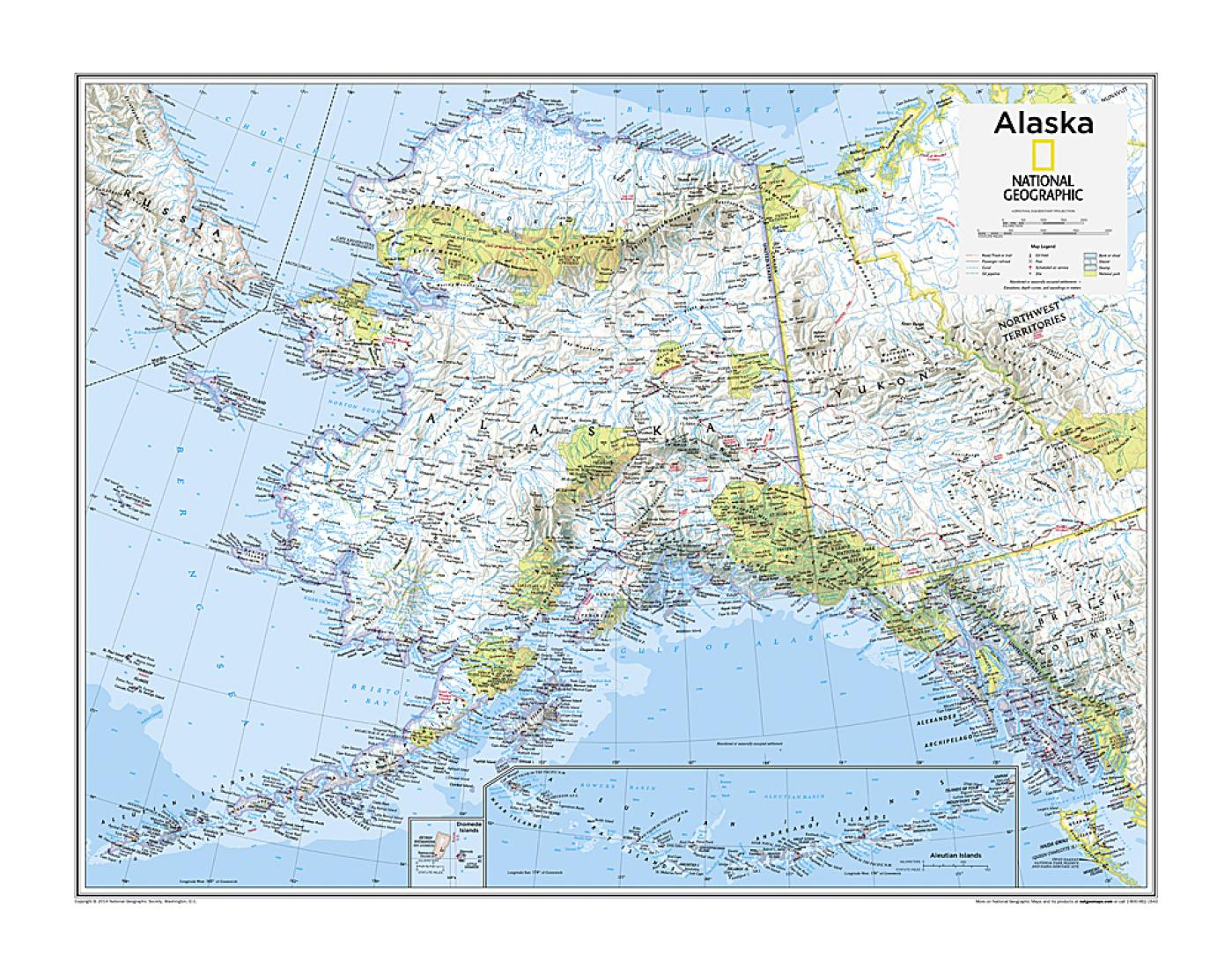 Alaska - Map from National Geographic Atlas of the World 10th Edition on topographical map, geologic map, genetic map, topological map, maps map, personal map, business map, geographical map, statistical map, world map, physical map, early world maps, physical geography, science map, aerial photography, geographic information system, geographic coordinate system, human geography, egypt map, weather map, topographic map, costa blanca spain map, history map, spatial analysis, earth remote sensing, national map, thematic map, international map, map projection, contour line,