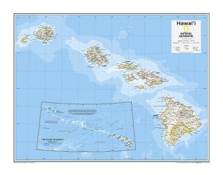 Hawai'i - Map from National Geographic Atlas of the World 10th Edition by National Geographic Maps