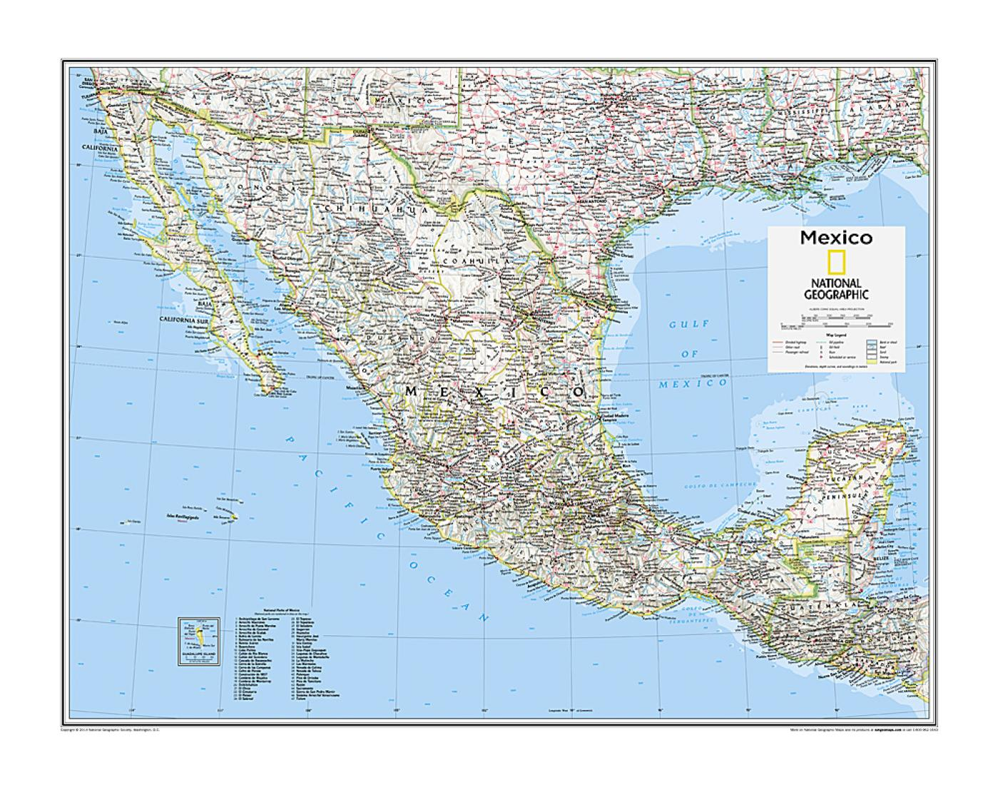 Picture of: Mexico Map From National Geographic Atlas Of The World 10th Edition By National Geographic Maps