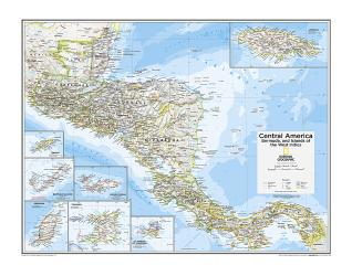Central America, Bermuda, and Islands of the West Indies - Map from National Geographic Atlas of the World 10th Edition by National Geographic Maps