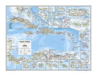 West Indies - Map from National Geographic Atlas of the World 10th Edition by National Geographic Maps