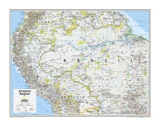 Amazon Region - Map from National Geographic Atlas of the World 10th Edition by National Geographic Maps