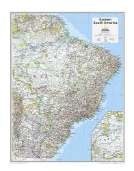 Eastern South America - Map from National Geographic Atlas of the World 10th Edition by National Geographic Maps