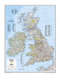 British Isles - Map from National Geographic Atlas of the World 10th Edition by National Geographic Maps