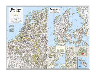 The Low Countries, Denmark, and Europe's Smallest Countries - Map from National Geographic Atlas of the World 10th Edition by National Geographic Maps