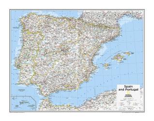 Spain and Portugal - Map from National Geographic Atlas of the World 10th Edition by National Geographic Maps