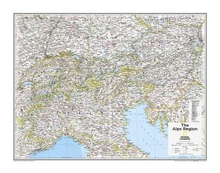 The Alps Region - Map from National Geographic Atlas of the World 10th Edition by National Geographic Maps