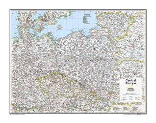 Central Europe - Map from National Geographic Atlas of the World 10th Edition by National Geographic Maps