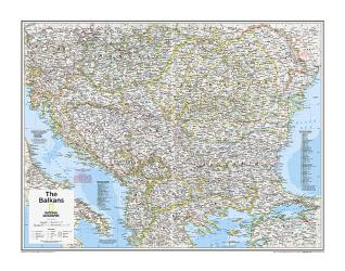 The Balkans - Map from National Geographic Atlas of the World 10th Edition by National Geographic Maps