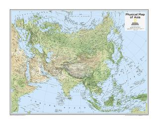 Asia Physical - Map from National Geographic Atlas of the World 10th Edition by National Geographic Maps