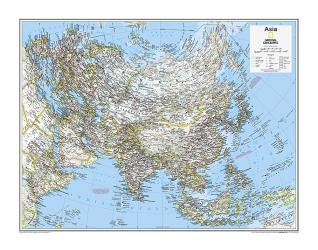 Asia Political - Map from National Geographic Atlas of the World 10th Edition by National Geographic Maps