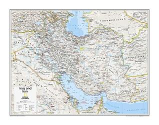Iraq and Iran - Map from National Geographic Atlas of the World 10th Edition by National Geographic Maps