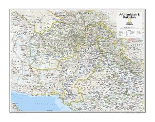 Afghanistan & Pakistan - Map from National Geographic Atlas of the World 10th Edition by National Geographic Maps