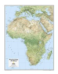 Africa Physical - Map from National Geographic Atlas of the World 10th Edition by National Geographic Maps