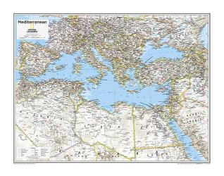 Mediterranean Region - Map from National Geographic Atlas of the World 10th Edition by National Geographic Maps