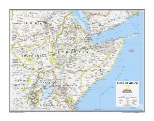 Horn of Africa - Map from National Geographic Atlas of the World 10th Edition by National Geographic Maps