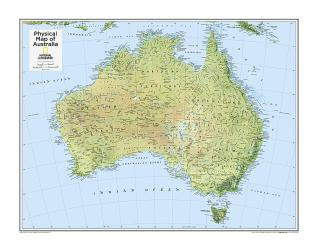 Australia Physical - Map from National Geographic Atlas of the World 10th Edition by National Geographic Maps