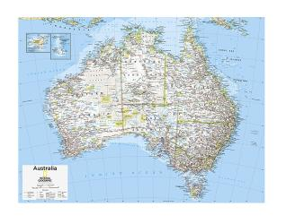 Australia Political - Map from National Geographic Atlas of the World 10th Edition by National Geographic Maps