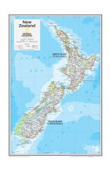 New Zealand - Map from National Geographic Atlas of the World 10th Edition by National Geographic Maps