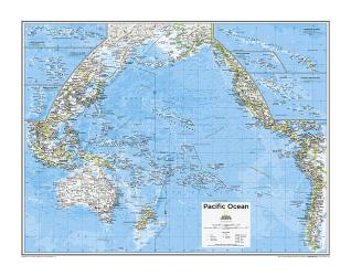 Pacific Ocean Political - Map from National Geographic Atlas of the World 10th Edition by National Geographic Maps