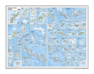 Islands of the Pacific - Map from National Geographic Atlas of the World 10th Edition by National Geographic Maps