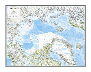 Arctic Political - Map from National Geographic Atlas of the World 10th Edition by National Geographic Maps