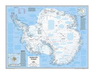 Antarctica Political - Map from National Geographic Atlas of the World 10th Edition by National Geographic Maps